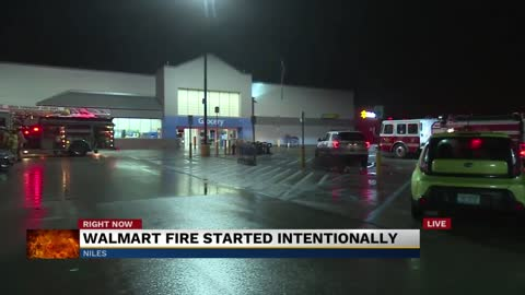 An arson fire inside a Niles Walmart is the fourth one this year